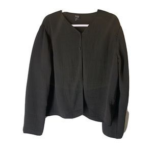 Eileen Fisher Women's Black Cardigan Jacket Size L
